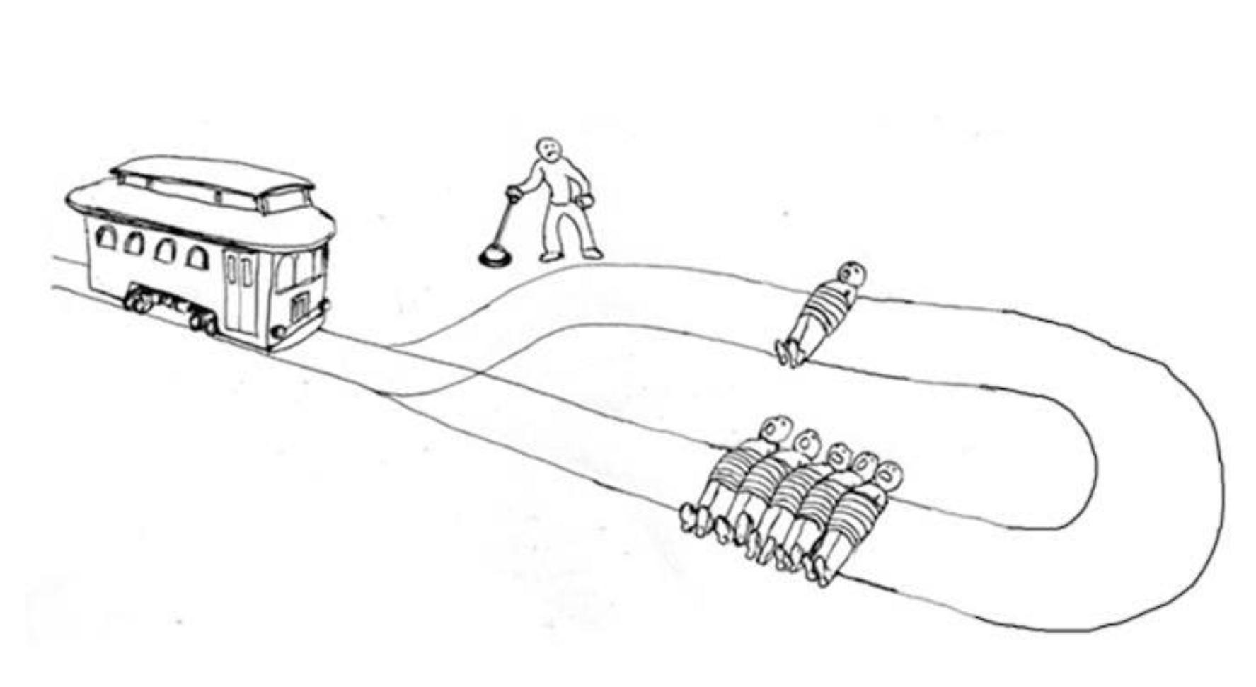 The Trolley Problem — Origins. The Trolley Problem is a thought… | by Sara  Bizarro | Medium